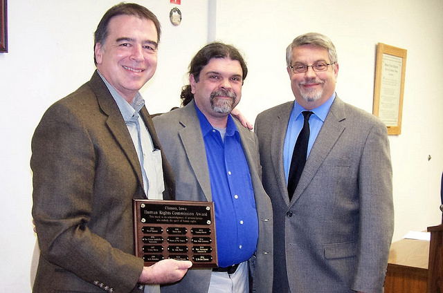 Mayor, Ed, Devin Human Rights Commission Award